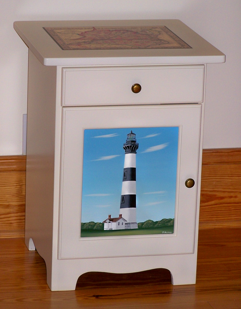 Hand Painted Furniture, Lighthouse, Nautical And Country, Scenes ...